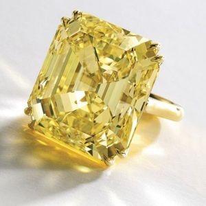 Jewelry - Canary Yellow Topaz Statement Ring